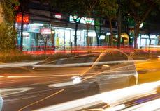 Night streets of Bangkok. Royalty Free Stock Photo