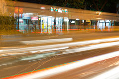 Night streets of Bangkok. Royalty Free Stock Photography