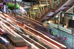 Night streets of Bangkok. Stock Images