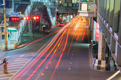 Night streets of Bangkok. Stock Photos