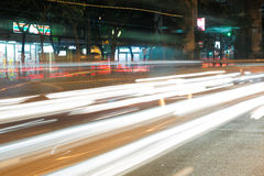 Night streets of Bangkok. Royalty Free Stock Photo