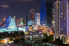 Night streets of Bangkok. Stock Photos