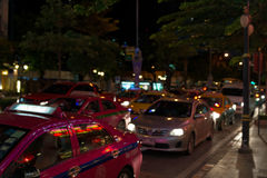 Night streets of Bangkok. Stock Photography