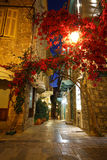 Night streets of Nafplio. Stock Images