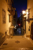 Night streets of Nafplio. Stock Photos