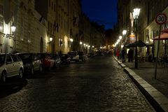 Night streets of Prague. Royalty Free Stock Photos