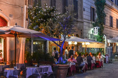 Night on streets of Rome City Stock Photography