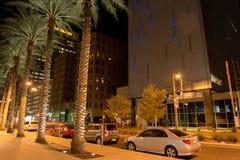 Night streetscape in downtown Phoenix, AZ Stock Photo