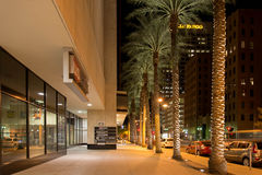Night streetscape in downtown Phoenix, AZ Stock Image