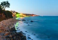 Night summer coastline (Bulgaria). Stock Photo