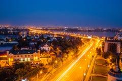 Night summer Voronezh Stock Photos
