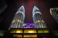 Night SURIA KLCC Royalty Free Stock Image