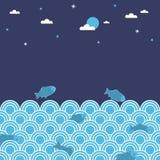 Night swimming Stock Image