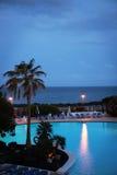 Night Swimming Pool Royalty Free Stock Photo