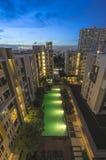 Night swimming pool. Bangkok Thailand Stock Images