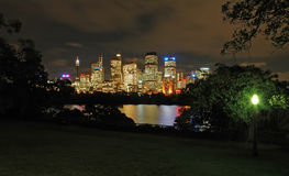 Night sydney. Panorama, photo taken from Royal Botanic Gardens Royalty Free Stock Image