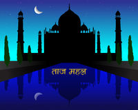 Night Taj Mahal Royalty Free Stock Photography