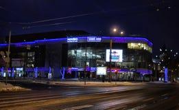 Night Tallinn, modern areas Royalty Free Stock Images