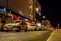 Night Cabs Stock Photos
