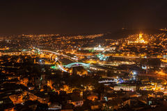 Night Tbilisi Stock Photo