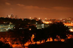 Night Tel Aviv. City night lights. Night Tel Aviv Royalty Free Stock Photography