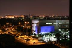 Night Tel Aviv. City night lights. Night Tel Aviv Stock Photos