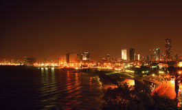 The night Tel Aviv city Royalty Free Stock Photo