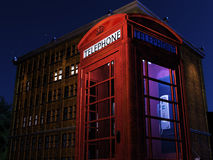 Night Telephone Box Royalty Free Stock Images