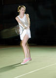 Night tennis Royalty Free Stock Image