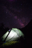 Night tent. Royalty Free Stock Images