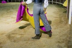 Night tentadero training Royalty Free Stock Photo
