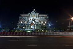 Night thai architecture Stock Image