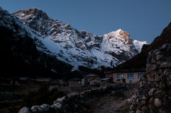 Night in Thame village, Himalayas Royalty Free Stock Image