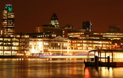 Night Thames River Stock Image