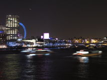 Night in Thames River, London Stock Photos