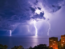 Night thunderstorm Stock Photo