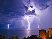 Night thunderstorm Stock Photo