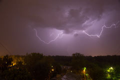 Night thunderstorm Stock Images