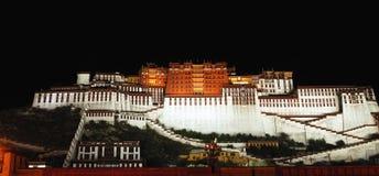 Night of Tibet Potala Palace Stock Images