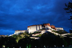 The night. Tibet night view of Potala Palace Royalty Free Stock Images