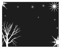 Night time. Outdoors on a dark starry night Stock Illustration