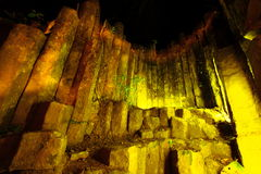 Night time at amazing stone of columnar,Phrae Stock Image