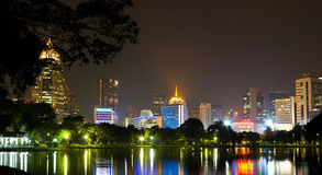 Night time in Bangkok Royalty Free Stock Image