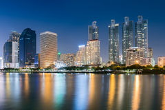 Night time of Bangkok Royalty Free Stock Images