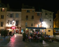 Night time bar scene in Aix-en-provence in the south of France Stock Image