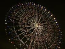 Night time big-wheel. Big-wheel illumination in night, tokyo Japan Stock Photos