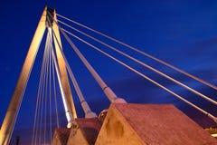 Night time bridge. Royalty Free Stock Image