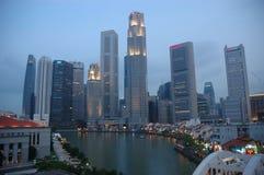 Night time city. Singapore at night Stock Image