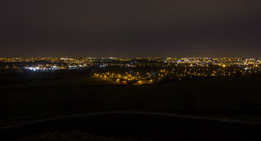 Night time Cityscape of Wakefield Stock Photography