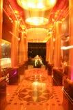 Night time creative zoom interior lifestyle photography. Plush hotel interiors in creative zoom art photography Royalty Free Stock Photography